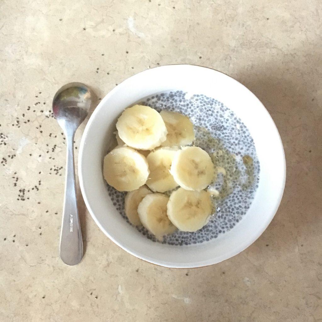 chia's pudding-banane