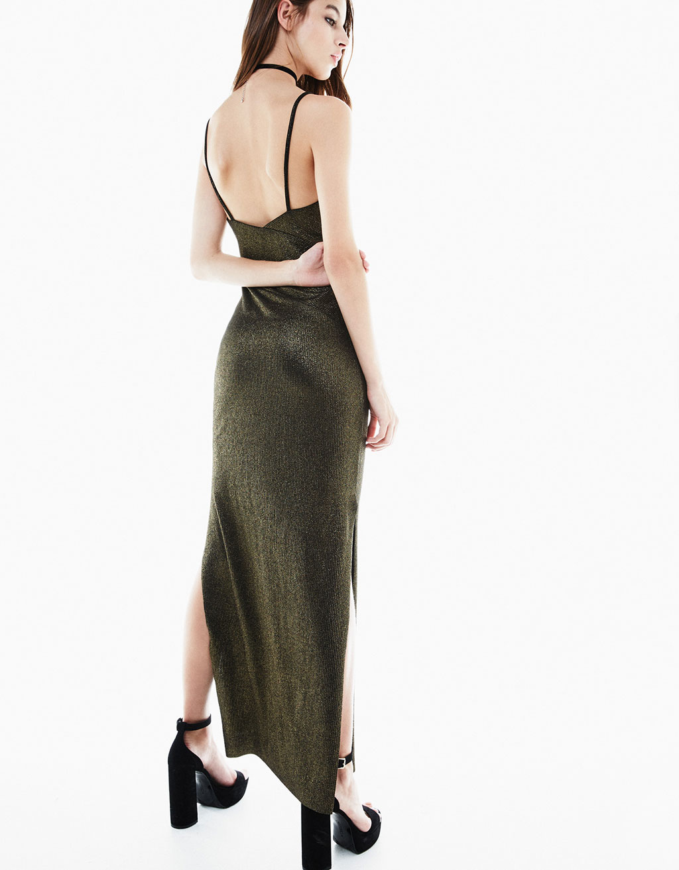 robe-longue-lamee-bretelles